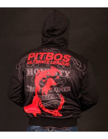 Pitbos Ultimate League Zip Hoodie BlackNRed