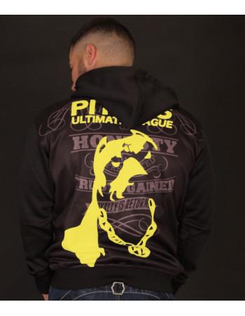 Pitbos Ultimate League Zip Hoodie BlackNYellow