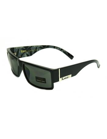LOCS Sunglasses Black/Olive Weed