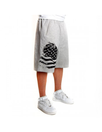 Cocaine Life US Fleece Shorts Grey/Black