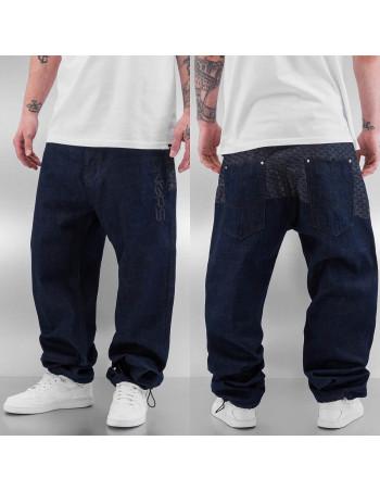 DNGRS Logo Baggy Jeans Rinse Indigo