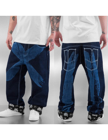 DNGRS Cross Baggy Jeans Dark Blue