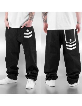 DNGRS Skull Baggy Jeans Black