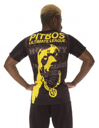 Pitbos Ultimate League Tee BlackNYellow