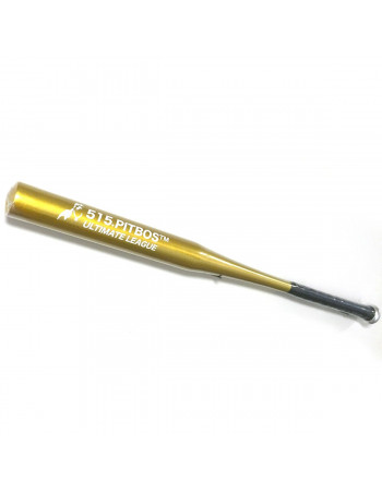 Pitbos5.515 Baseball Bat Alu Gold/White Print