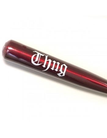 Pitbos5.515 Baseball Bat Alu Thug Red/White Print