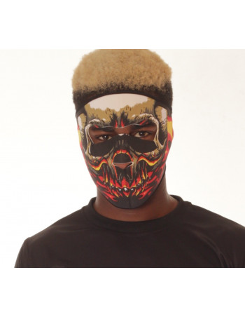Flaming Skull Full Face Mask