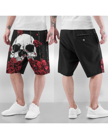 DGNRS Skull Shorts Black/Red/White