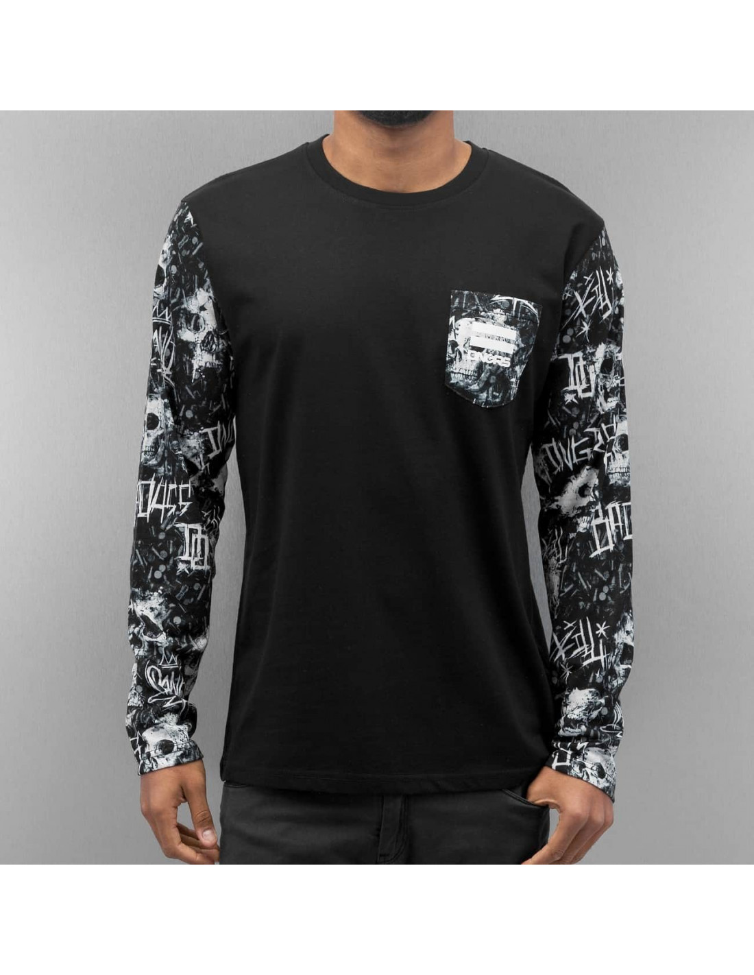 DGNRS Death Tee L/S BlackNWhite