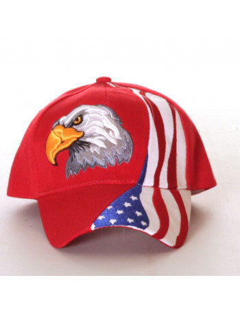 Baseball cap, US Eagle Rød