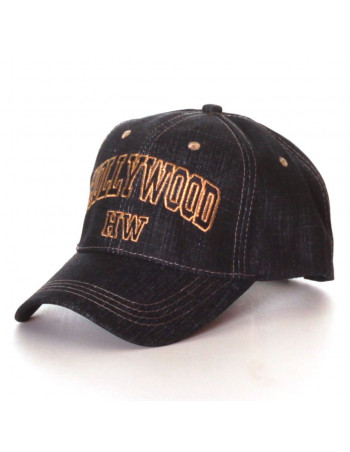 HW Denim Fashion Cap/Black