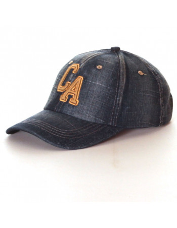 Washed CA Denim Baseball Cap/Blue