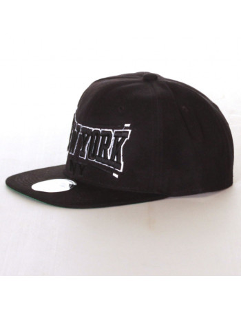 Townz Snapback Cap New York Black Black