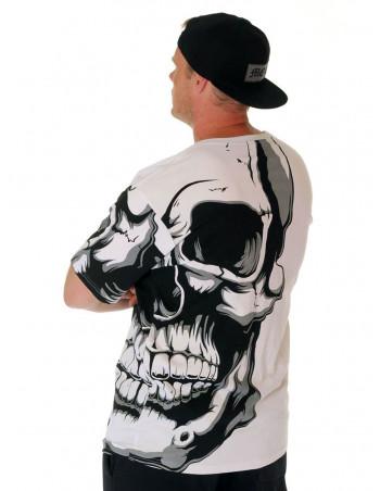 BSAT Crown Skull Tee White