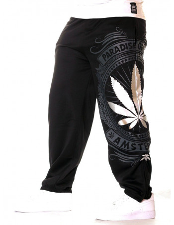 BSAT Silver Weed SweatPants Black//Silver/Grey