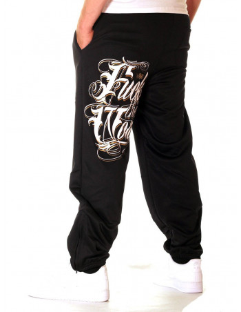BSAT F.. The World Sweatpants Black/White/Gold
