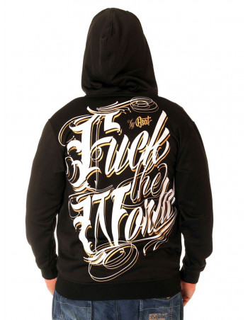 BSAT F.. The World ZipHoodie Black/White/Gold