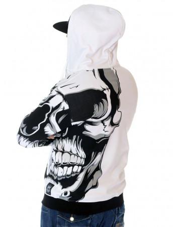 BSAT Crown Skull ZipHoodie White