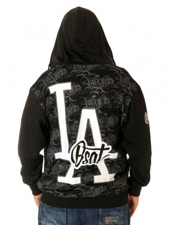 BSAT Los Angeles ZipHoodie Black