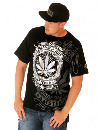 BSAT Paradise of Weed Tee Black/White/Silver/Grey