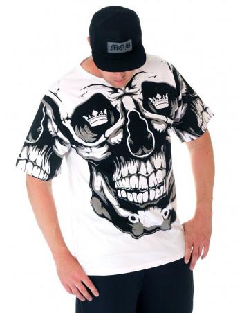 BSAT Crown Skull Tee White/Black/Grey
