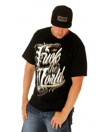 BSAT F.. The World Tee Black/White/Gold