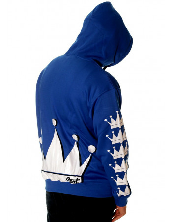 Crown Bronx Hoodie Royal Blue by BSAT
