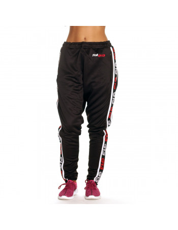 Endurance Track Pants Black with RedNWhite Stripe by FAT313