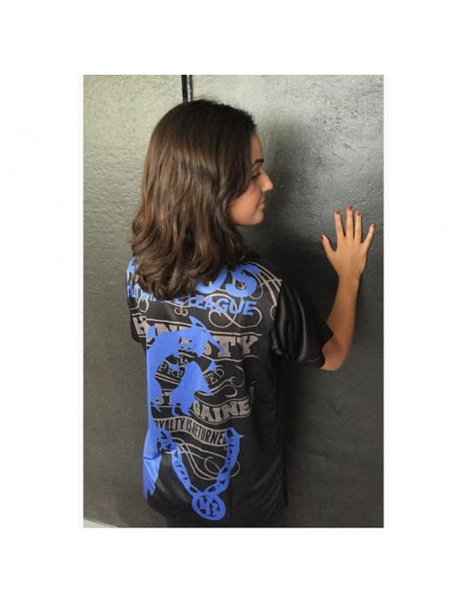 Pitbos Ultimate League female oversize T-Shirt BlackNBlue