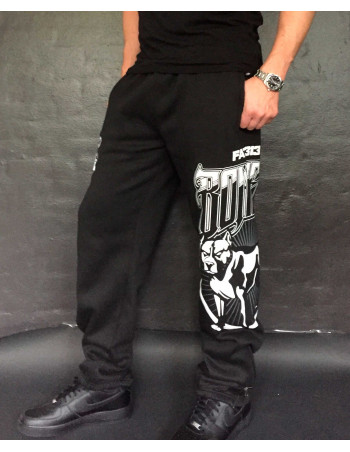 FAT.313 Bomber Dog Sweatpants Black