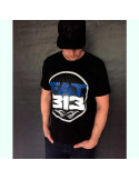FAT.313 Bomber Excellence Tee Black BlueNWhite