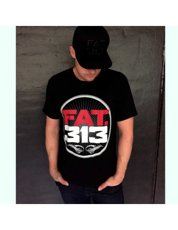 FAT.313 Bomber Excellence Tee Black RedNWhite