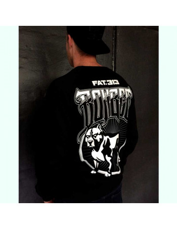 FAT.313 Bomber Dog Crewneck Black