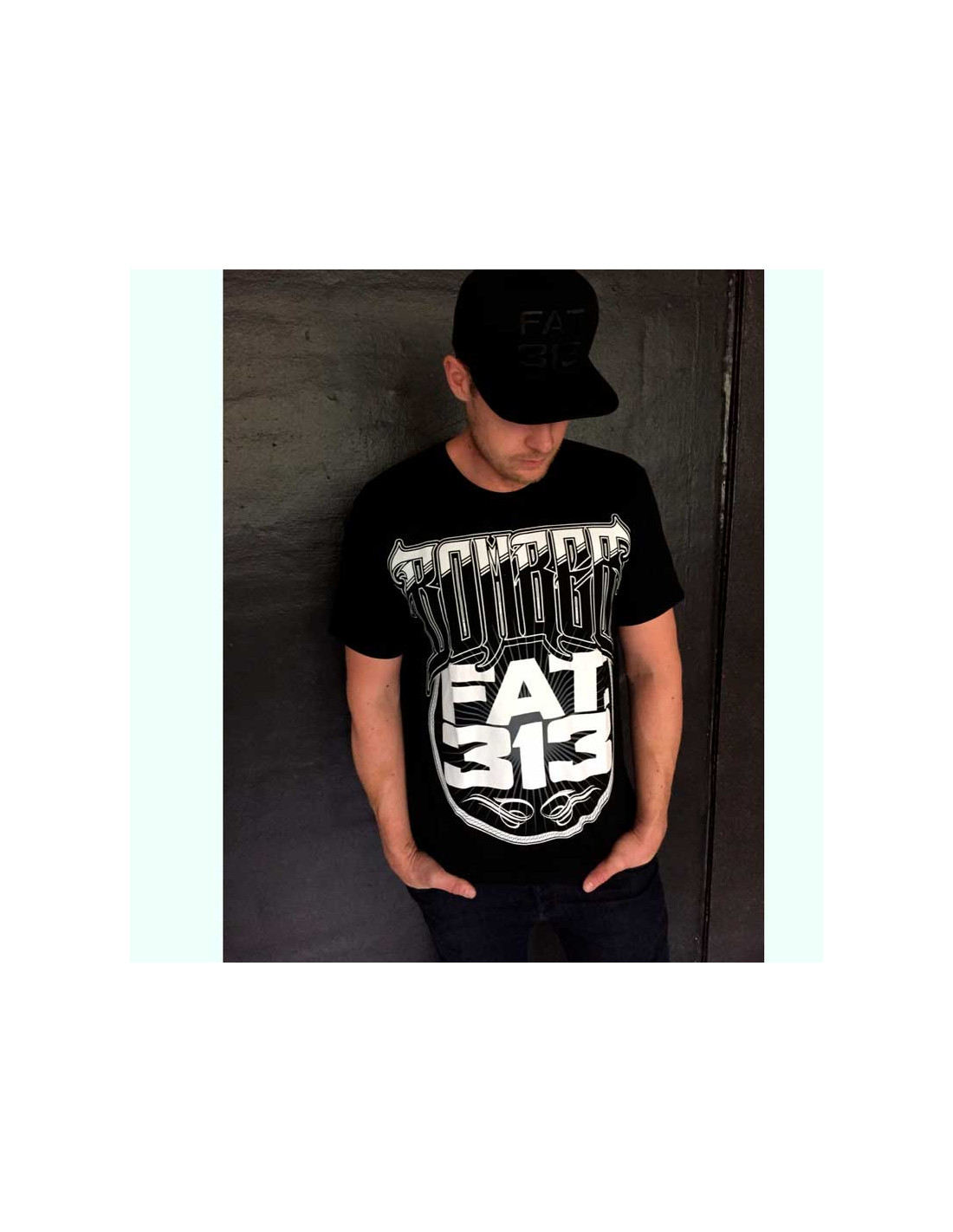 FAT.313 Bomber Big Fat Tee Black