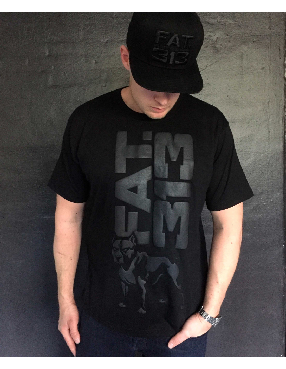 FAT.313 Legend Standout Tee All Black