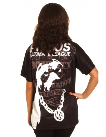 Pitbos Ultimate League female oversize T-Shirt BlackNWhite