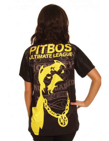Pitbos Ultimate League female oversize T-Shirt BlackNYellow