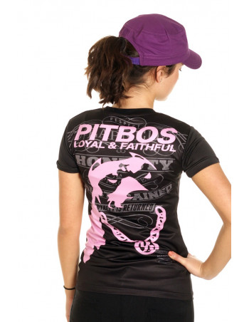 Pitbos Loyal & Faithful LadyTee BlackNPink