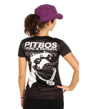 Pitbos Loyal & Faithful LadyTee BlackNWhite