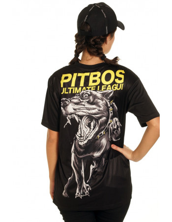Pitbos Fighter Female T-Shirt Black/Grey/Yellow