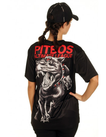 Pitbos Fighter Female T-Shirt Black/Grey/Red