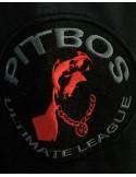 Pitbos Dog Winter Jacket BlackNRed
