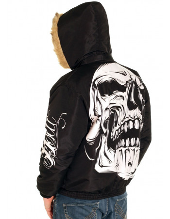 BSAT Big Skull Winter Jacket Black