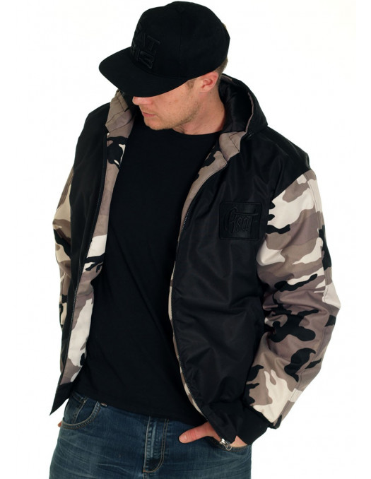 BSAT Bronx Winter Jacket BlackNCamo
