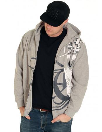 Cali Skull ZipHoodie Grey by BSAT