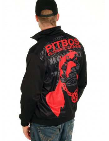 Pitbos Ultimate League Trackjacket BlackNRed