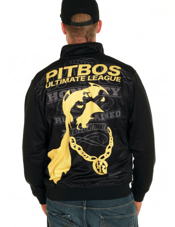 Pitbos Ultimate League Trackjacket BlackNYellow