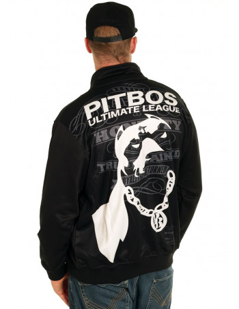Pitbos Ultimate League Trackjacket BlackNWhite