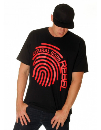 Natural Born Rebel Fingerprint Tee by RBLS-UNTD