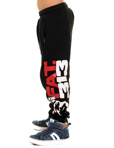FAT.313 Kids Legend Standout Sweatpants Black RedNWhite